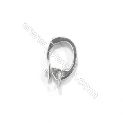 925 Sterling silver hook clasp, 8x12 mm, x 10 pcs