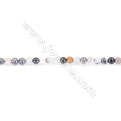 Natural Picasso Jasper Beads Strand  Round  diameter 2mm   hole 0.4mm   about 178 beads/strand 15~16''