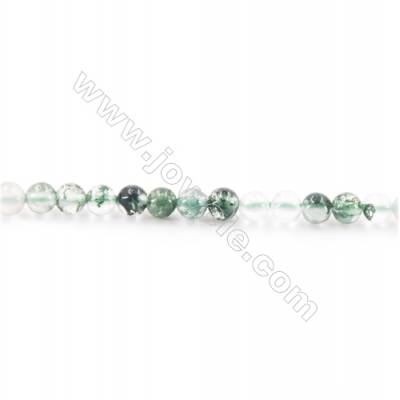 Natural Moss Agate Beads Strand  Round  diameter 2mm   hole 0.4mm   about 160 beads/strand 15~16''