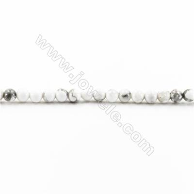 Natural Howlite Beads Strand  Round  diameter 2mm   hole 0.4mm   about 181 beads/strand 15~16''