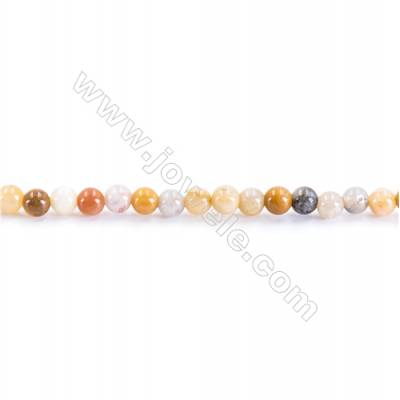 Natural Crazy Lace Agate Beads Strand  Round  diameter 2mm   hole 0.4mm   about 181 beads/strand 15~16''