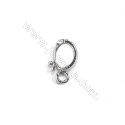Sterling silver 925 hook clasp, 6x11 mm, x 15 pcs