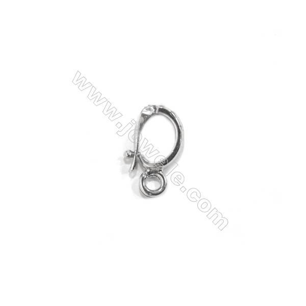 Sterling silver 925 hook clasp, 6x11 mm, x 15 pcs