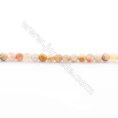 Faceted Crazy Lace Agate Beads Strand  Round  diameter 2mm   hole 0.4mm   about 177 beads/strand 15~16''
