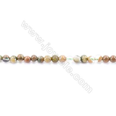 Natural Rhyolite Beads Strand  Round  diameter 2mm   hole 0.4mm   about 174 beads/strand 15~16''