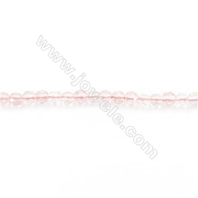 Faceted Natural Cherry Quartz Beads Strand  Round  diameter 2mm   hole 0.4mm   about 181 beads/strand 15~16''