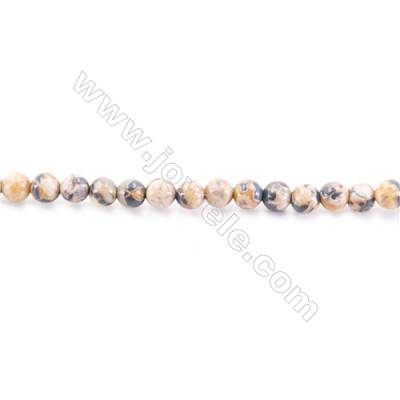 Natural Leopard Skin Beads Strand  Round  diameter 2mm   hole 0.4mm   about 174 beads/strand 15~16''