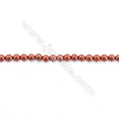 Natural Red Jasper Beads Strand  Round  diameter 2mm   hole 0.4mm   about 174 beads/strand 15~16''