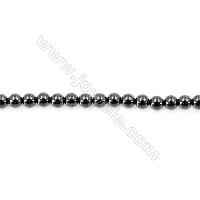 Natural Black Spinel Beads Strand  Round  diameter 2mm   hole 0.4mm   about 190 beads/strand 15~16''