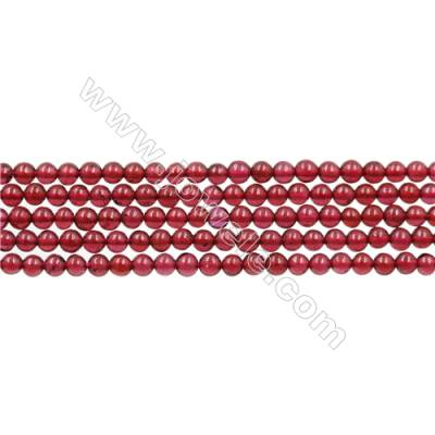 Natural Garnet Beads Strand  Round  diameter 2mm   hole 0.4mm   about 182 beads/strand 15~16''