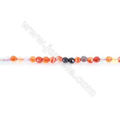 Multi-color Agate Beads Strand  Round  diameter 2mm   hole 0.4mm   about 200 beads/strand 15~16''