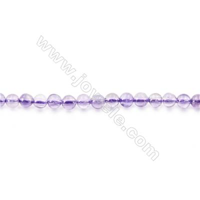 Natural Amethyst Beads Strand  Round  diameter 2mm   hole 0.4mm   about 174 beads/strand 15~16''