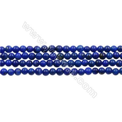 Natural Stone Lapis Beads Strand  Round  diameter 2mm   hole 0.4mm   about 160 beads/strand 15~16''