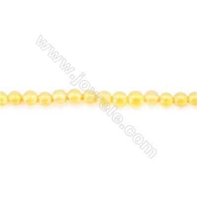Natural Yellow Agate Beads Strand  Round  diameter 2mm   hole 0.4mm   about 195 beads/strand 15~16''