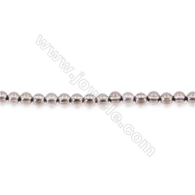Natural Smoky Quartz Beads Strand  Round diameter 2mm   hole 0.4mm   about 190 beads/strand 15~16''