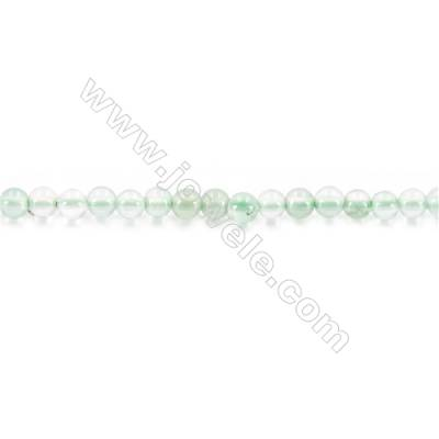 Green Agate Beads Strand  Round  diameter 2mm   hole 0.4mm   about 190 beads/strand 15~16''