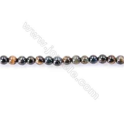 Natural Blove Tiger Eye Beads Strand  Round  diameter 2mm   hole 0.4mm   about 180 beads/strand 15~16''