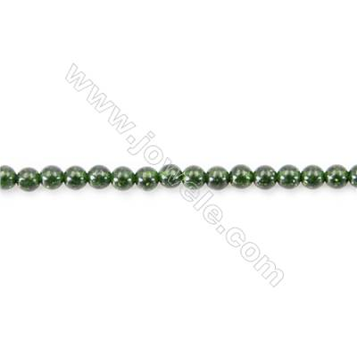 Natural Stone Dark Green SandStone sand Beads  Round  diameter 2mm   hole 0.4mm   about 180 beads/strand 15~16''