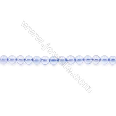 Natural Blue Agate Beads Strand  Round  diameter 2mm   hole 0.4mm   about 166 beads/strand 15~16''