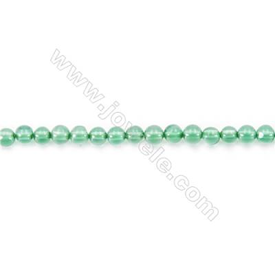 Natural Green Agate Beads Strand  Round  diameter 2mm   hole 0.4mm   about 180 beads/strand 15~16''