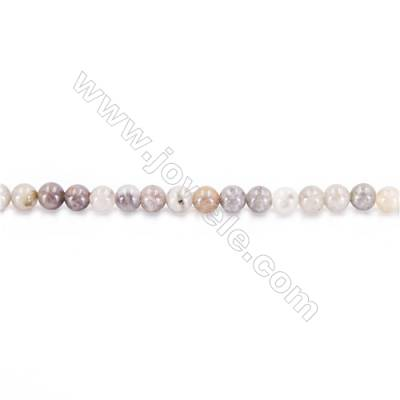 Natural Bamboo Stone Beads Strand  Round  diameter 2mm   hole 0.4mm   about 175 beads/strand 15~16''