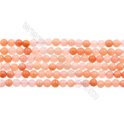 Natural Cherry Quartz Beads Strand  Round  diameter 2mm   hole 0.4mm   about 174 beads/strand 15~16''