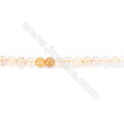 Natural Jade Beads Strand  Round  diameter 2mm   hole 0.4mm   about 168 beads/strand 15~16""