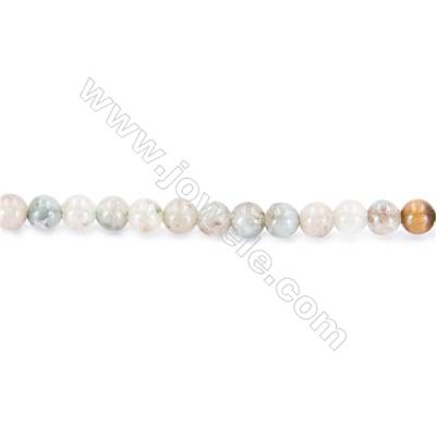 Natural Lucky Jade Beads Strand  Round  diameter 2mm   hole 0.4mm   about 178 beads/strand 15~16''