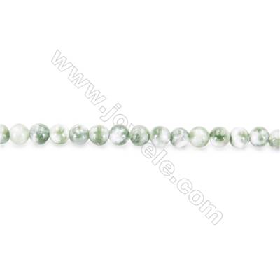 Natural Hami Jade Beads Strand  Round  diameter 2mm   hole 0.4mm   about 170 beads/strand 15~16""