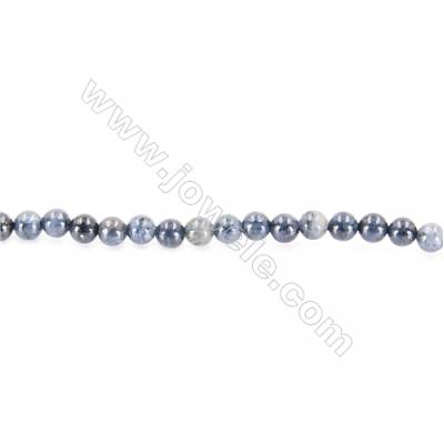 African Blue Stone Beads Strand  Round  diameter 2mm   hole 0.4mm   about 176 beads/strand 15~16''
