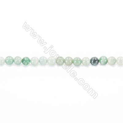 Natural African Jade Beads Strand  Round  diameter 2mm   hole 0.4mm   about 170 beads/strand 15~16''