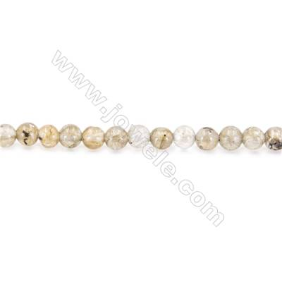 Natural Labradorite Beads Strand  Round  diameter 2mm   hole 0.4mm   about 168 beads/strand 15~16""