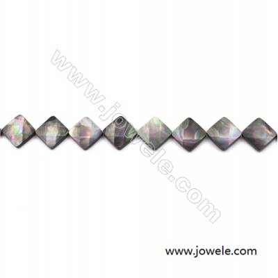 Faceted Grey Mother Of Pearl Shell Beads Strand, Rhombus, Size 17x17mm, hole 0.8mm, about 22 beads/strand, 15~16""