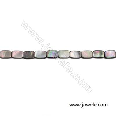 Grey Mother Of Pearl Shell Beads Strand, Rectangle, Size 8x12mm, hole 0.8mm, about 33 beads/strand, 15~16""