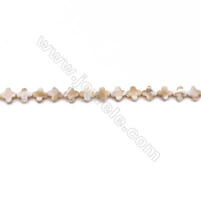 Natural Mother-of-pearl shell beads strand  flower   Size 8x8mm hole 0.8mm  about 47 beads/strand 15~16""