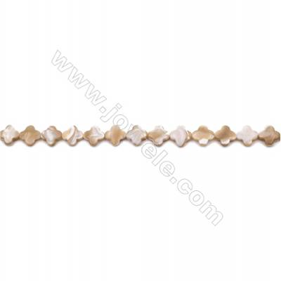 Natural Mother-of-pearl shell beads strand  flower   Size 10x10mm hole 0.8mm  about 38 beads/strand 15~16""