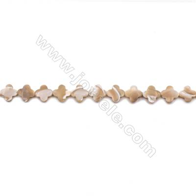 Natural Mother-of-pearl shell beads strand  flower   Size 12x12mm hole 0.8mm  about 33 beads/strand 15~16""