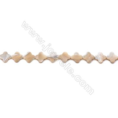 Natural Mother-of-pearl shell beads strand  flower   Size 14x14mm hole 0.8mm  about 28 beads/strand 15~16""