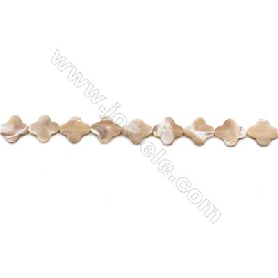 Natural Mother-of-pearl shell beads strand  flower   Size 18x18mm hole 0.8mm  about 23 beads/strand 15~16""