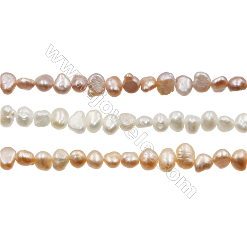 "Multicolor Natural Fresh Water Pearl, Size 4~5mm, Hole 0.4mm, 15~16""/strand"