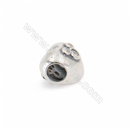 925 Sterling Silver Cubic Zirconia European Beads x 1 piece  American mouse  Size 10x10x9 mm  hole 4.5 mm