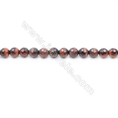 Faceted Red Tiger Eye Beads Strands  Round   diameter 4mm  Hole: 0.8mm  about 92 beads/strand  15~16''