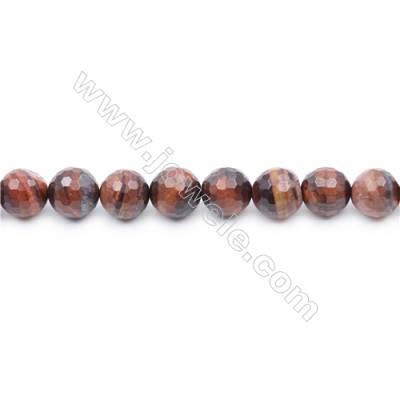 Faceted Red Tiger Eye Beads Strands  Round   diameter 8mm  Hole: 1mm  about 49 beads/strand  15~16''