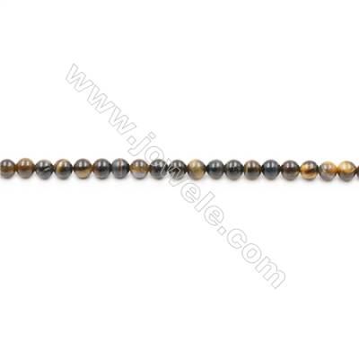 Natural Tiger Eye Beads Strands  Round  diameter 6mm  Hole: 1mm  about 65 beads/strand  15~16''