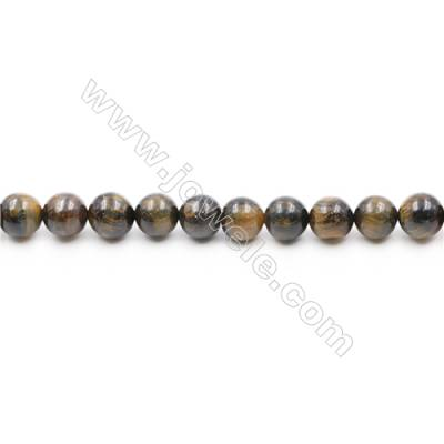 Natural Tiger Eye Beads Strands  Round  diameter 12mm  Hole: 1mm  about 33 beads/strand  15~16''