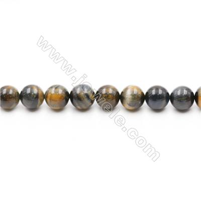 Natural Tiger Eye Beads Strands  Round  diameter 14mm  Hole: 1.5mm  about 28beads/strand  15~16''