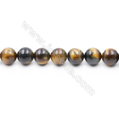 Natural Tiger Eye Beads Strands  Round  diameter 16mm  Hole: 1.5mm  about 25 beads/strand  15~16''