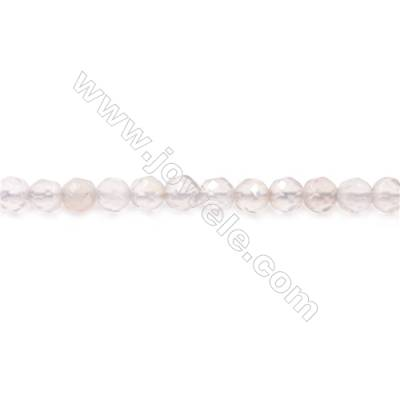Natural Grey Agate Beads Strand  Faceted Round  diameter 4mm  Hole: 1mm  about 97 beads/strand  15~16''