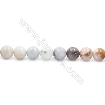 Natural Mix Colors Amazonite Beads Strands  Round  Diameter 10mm  Hole: 1mm  about 40 beads/strand  15~16''