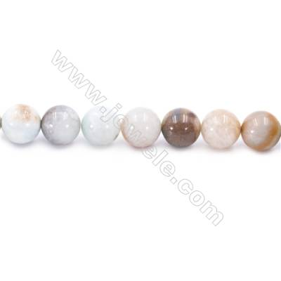 Natural Mix Colors Amazonite Beads Strands  Round  Diameter 12mm  Hole: 1.2mm  about 33 beads/strand  15~16''